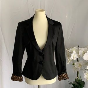 Black satin blazer